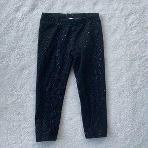 JUMPING BEANS black shiny size 3T girls leggings